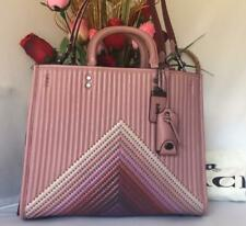 $995 NWT Coach 1941 Rogue ColorBlock Quilted Rivets Leather Satchel Dusty Rose