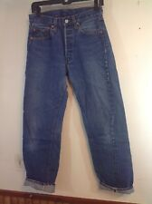 vintage levis 501 button fly denim jeans red line redline 31x34 tag 28 1/2x301/2
