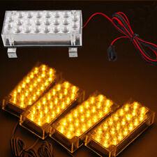 Strobe 88 LED Intermitente en Amarillo Luz Estroboscopica Coche DC 12V