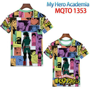 Women Men Tops Anime My Hero Academia Short sleeve T-shirt Unisex clothes Tees