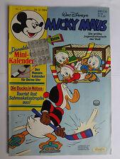 Micky Maus Comic Nr.1  29.12.1984 mit Beilage Mini Kalender, Sehr guter Zustand