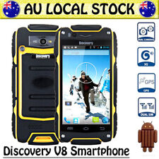 Yellow Discovery V8 Unlocked Android Rugged 3G Smartphone Dual SIM Tough Mobile