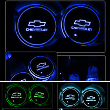 2PCS Colorful LED Car Cup Holder Pad Mat for Chevrolet Auto Atmosphere Lights HT