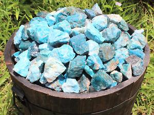 1/2 lb Bulk Lot Natural Rough Blue Apatite (Crystal Stones Raw Tumbling 8 oz)