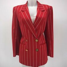 Guy Laroche Red Vintage Stripe Blazer 8