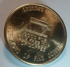 Vintage Gloria Jeans Free Coffee Cup Token Rare Brass Copper Coin Mid Century