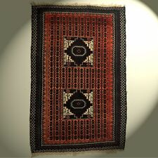 Nomaden Orient-Teppich Brücke 100% Wolle 210x137cm rug tapis tappeto handmade