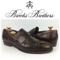 Brooks Brothers Men Brown Leather Penny Loafers Moc Toe USA Made Shoes Sz 10.5 D