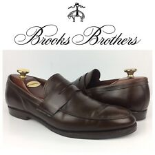 17d049f34647f Brooks Brothers Men Brown Leather Penny Loafers Moc Toe USA Made Shoes Sz 10.5  D