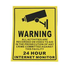 3pcs etiquetas CCTV cámaras de seguridad  Pegatina Advertencia 20cmx25cm hg gvj
