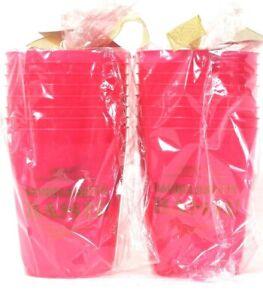 16 Count Slant Collections 16 Oz Bachelorette Bash Pink & Gold Frost Flex Cups