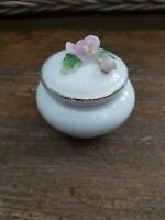 Vintage Leonardo Collection China Floral Trinket Pot