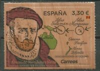Spain 2018 Discoverers of Oceania Map Unique Unusual Wood stamp Novelty MNH