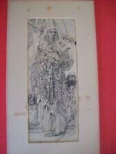 Carl (Karl) Gehrts (German, 1853–1898) ink drawing