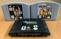 Wrestling Nintendo 64 Lot - Lot of 3 Games - War Zone, World Tour, Wrestlemania