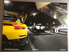 2018 Porsche 911 GT2 RS, 919 & 956 Showroom Advertising Sales Poster RARE!! L@@K