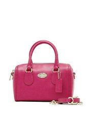 NWT Coach Crossgrain Leather Baby Bennett Satchel Handbag in Cranberry F 34641
