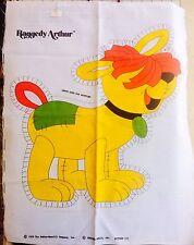 Vintage Yellow Raggedy Arthur Dog Cut & Sew Pillow Fabric Panel Uncut 70's