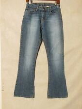 D8809 Abercrombie & Fitch Flare Indigo USA Made Killer Fade Jeans Women's 27x32