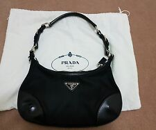 PRADA Designer Da Donna Limited Edition Finiture in Pelle Borsa a tracolla in nylon
