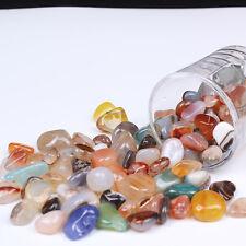 1/2lb Natural Agate GRAVEL tumbled bulk quartz STONE HEALING REIKI s75