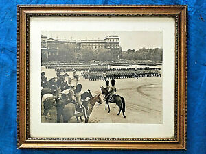 Antique royal press photo Trooping the Colour Horse Guards Parade c1930?