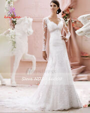 .Hot New white/ivory wedding dress custom size 2-4-6-8-10-12-14-16-18-20-22+++++