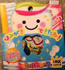 Kawaii CruX Brushing Teeth Sticker Flakes Sack 52 Stickers
