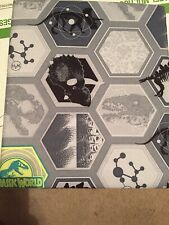 Twin Jurassic World With Dinosaurs Flat Sheet Gray Colors New
