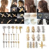 Fashion Girl Gold Hair Clip Statement Hairpin Hairband Comb Bobby Pin Barrette