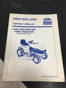 1994 New Holland / Ford operators manual yard tractor LS45 - 16H /LS55-18H parts