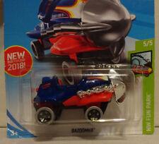 ERROR 2018 Hot Wheels - BAZOOMKA - Blue - Upside down engine  #191 Fun Park 5/5