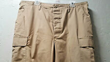 Cargo Pants Adj Waist 31-35 Large  Khaki  Beige Tactical Button Fly