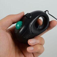 Black Finger Hand Held 4D USB Portable Trackball PC Computer Mouse