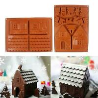 3D Silicone Gingerbread Chocolate House Mold Christmas Decorating Series Tr W6O1