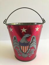 Vintage July 4Th Patriotic Iridescent Eagle Sand Pail - Ohio Art - 1960's!