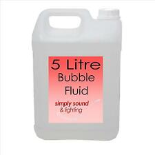 HIGH QUALITY BUBBLE FLUID LIQUID 1 x 5 LITRES 5L DELIVERED - PARTY DJ WEDDING