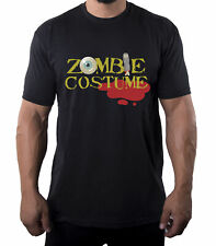 Zombie Costume Text shirt, Men's Graphic Tees, Funny Halloween Men's Shirts!