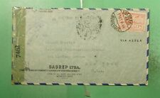 1944 URUGUAY MONTEVIDEO AIRMAIL TO USA WWII CENSORED