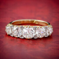 ANTIQUE VICTORIAN DIAMOND FIVE STONE RING 18CT GOLD CIRCA 1900 C