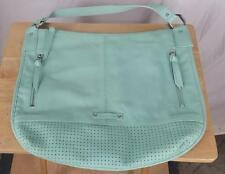 B Makowsky Purse Blue Leather Handbag Shoulder bag