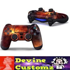 Devine customz PS4 playstation controller Fire red sky space nebula sticker set