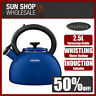 100% Genuine! CHASSEUR 2.5L Enamelled Whistling Kettle Blue! RRP $129.00!