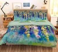 3D Flower Vine 4 Bed Pillowcases Quilt Duvet Cover Set Single Queen King AU Cobb