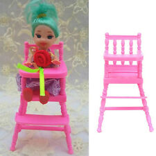1X New Barbie Doll House Chairs for Dining Room Miniature Furniture Kid Toy Hot