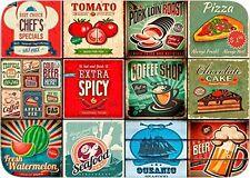 Set di 6 tovagliette americane con motivo 'Food Vintage 2' 31x45cm