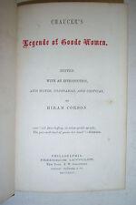 Chaucer's LEGENDE OF GOODE WOMEN By Hiram Corson. 1864.