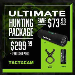 Tactacam Ultimate Hunting Package: 5.0 Camera, Barrel Mount, xtra Battery