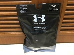 Under Armour UA Sportsmask Adult Fleece Gaiter Sports Mask- S/M Black New