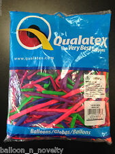 Qualatex Neon Assortment 260Q Entertainer Balloons ~100 ct.